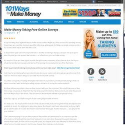 Make Money Taking Paid Online Surveys – Free Membership