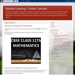 Online cbse coaching class for 11 Mathematics