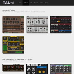 TAL - Togu Audio Line: Products