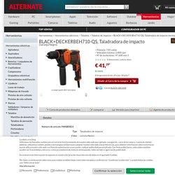 BLACK+DECKER BEH710-QS, Taladradora de impacto naranja/Negro