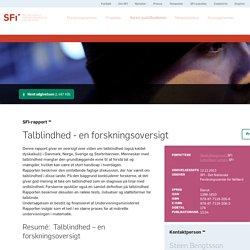 Talblindhed - en forskningsoversigt - SFI