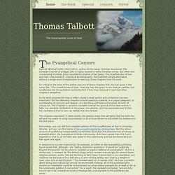 Thomas Talbott- The Evangelical Censors