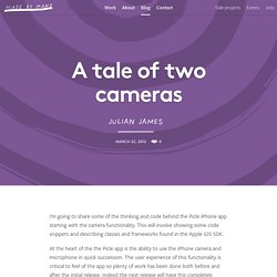 A tale of two cameras – Made by Many