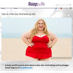 Tale of A Plus Size Red Bathing Suit