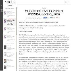 Vogue Talent Contest Winning Entry, 2007: Stephen Doig (Vogue.co.uk)