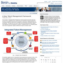 A New Talent Management Framework