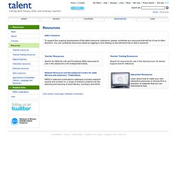talent : Resources