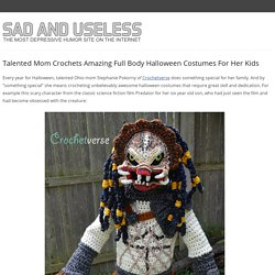Talented Mom Crochets Amazing Full Body Halloween Costumes For Her Kids