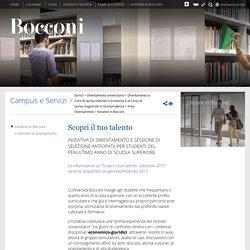 Scopri il tuo talento - Università Bocconi