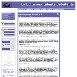 [La boîte aux talents débutants] Commentaire de Hernani, III, 4