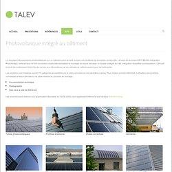 Photovoltaique intégré au bati (BIPV)