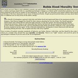 Robin Hood Morality Test