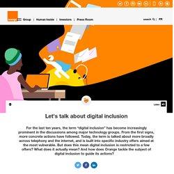 Let's talk about digital inclusion
