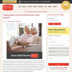 How to Talk to Elderly About End-of-Life Decisions