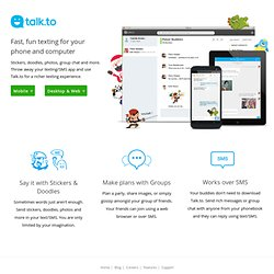 Talk.to - Best free chat for Facebook, Google Talk, etc.