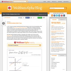 Wolfram|Alpha Blog