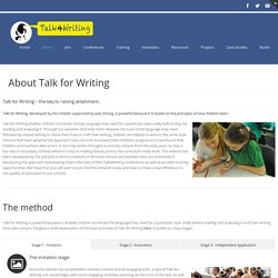 Talk for Writing – About Talk for Writing
