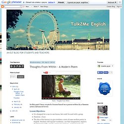 Talk2Me English : Thoughts From Within - A Modern Poem