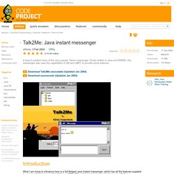 Talk2Me: Java instant messenger