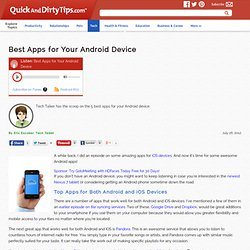 Tech Talker : Best Apps for Your Android Device