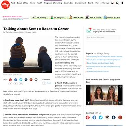 Talking about Sex: 10 Bases to Cover
