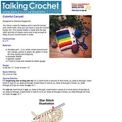 Talking Crochet ...Colorful Carryall