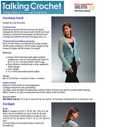Talking Crochet ...Cut-Away-Cardi