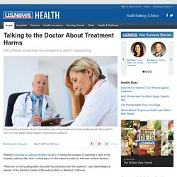 Talking to the Doctor About Treatment Harms