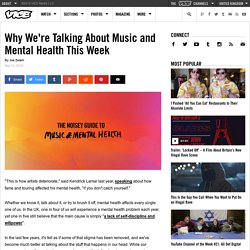 Why We're Talking About Music and Mental Health This Week