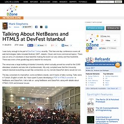 Talking About NetBeans and HTML5 at DevFest Istanbul