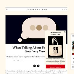 When Talking About Poetry Online Goes Very Wrong ‹ Literary Hub