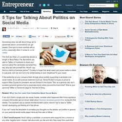 5 Tips for Talking About Politics on Social Media