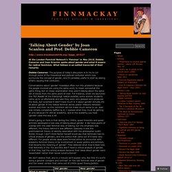 'Talking About Gender' by Joan Scanlon and Prof. Debbie Cameron « finnmackay