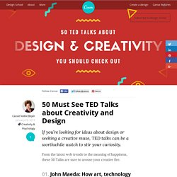 50 Must See TED Talks about Creativity and Design – Design School