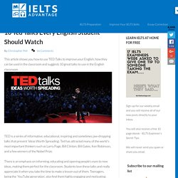 10 Ted Talks Every English Student Should Watch