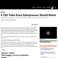 6 TED Talks Every Entrepreneur Should Watch
