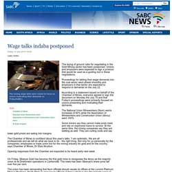 Wage talks indaba postponed:Friday 12 July 2013