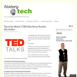 Tip of the Week: 5 TED Talks Every Teacher Should See