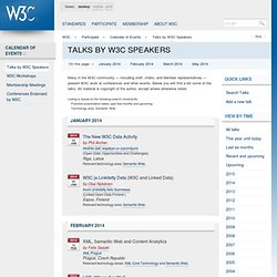 Talks by W3C Speakers