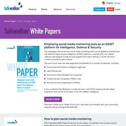 white paper: How to plan social media monitoring - talkwalker