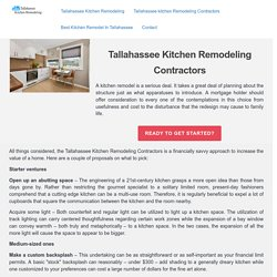 Tallahassee Kitchen Remodeling Contractors
