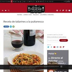 Tallarines a la puttanesca: receta de cocina fácil, sencilla y deliciosa
