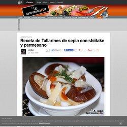 Receta de Tallarines de sepia con shiitake y parmesano