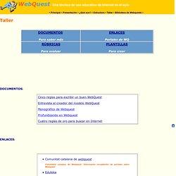 Taller Rúbricas y WebQuest