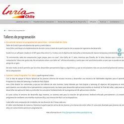Talleres de programación - Inria Chile