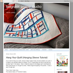 tallgrass prairie studio: Hang Your Quilt! (Hanging Sleeve Tutorial)