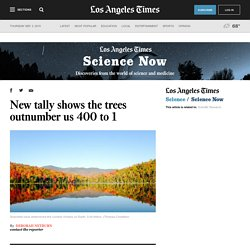 New tally shows the trees outnumber us 400 to 1
