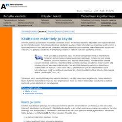 Aalto-yliopisto - Talouselämän viestinnän perusteet - Tietoaines