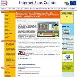 Tamagocours : un serious game destiné à la préparation du Certificat Informatique et Internet de Niveau 2 Enseignant (C2i2e).