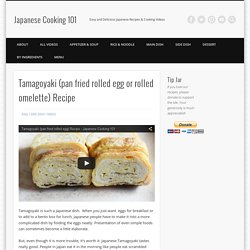 Tamagoyaki (pan fried rolled egg or rolled omelette) Recipe